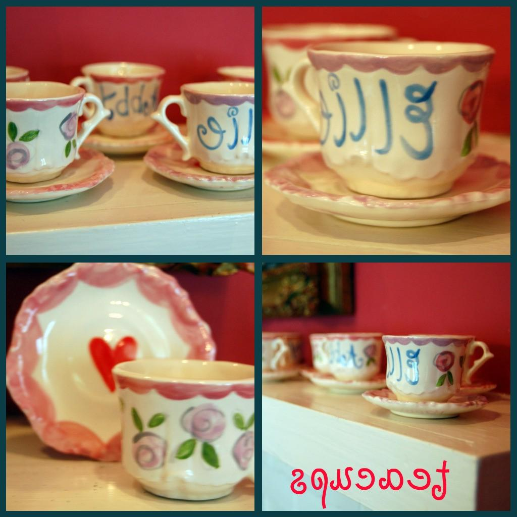 vintage tea cups example for
