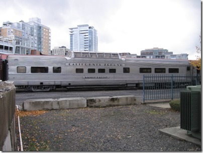 IMG_9788 California Zephyr Dome Coach #4718 Silver Lariat at Union Station in Portland, Oregon on October 21, 2009