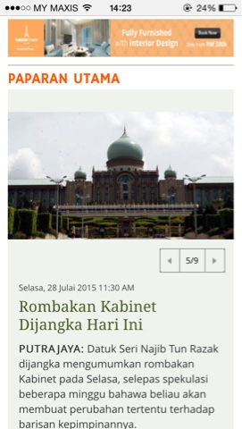 Kabinet Baru Malaysia 2015