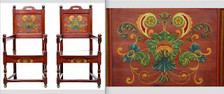 Два антикварных кресла в стиле ПРОВАНС. ок.1900 г. 59/55/109 см. 3800 евро.