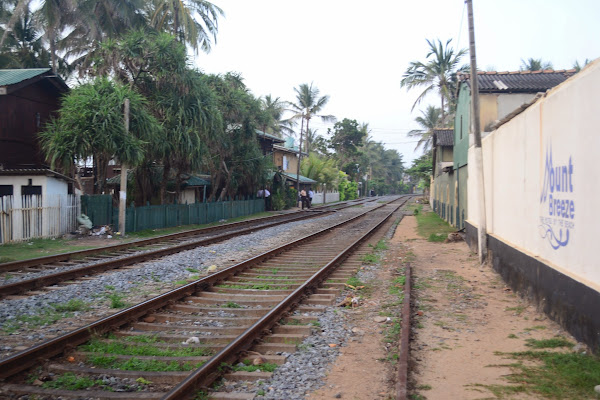 Железная дорога вдоль океана, Коломбо Шри Ланка