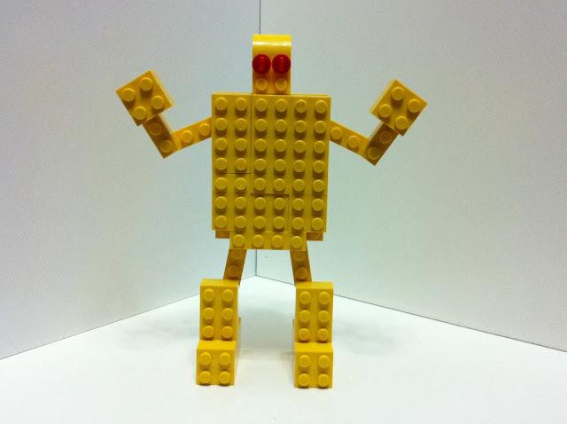 Cose da gamer mattoncini robot gold lightan