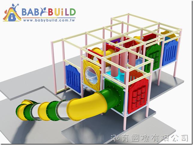 BabyBuild 小口徑隧道彎道逃生滑梯