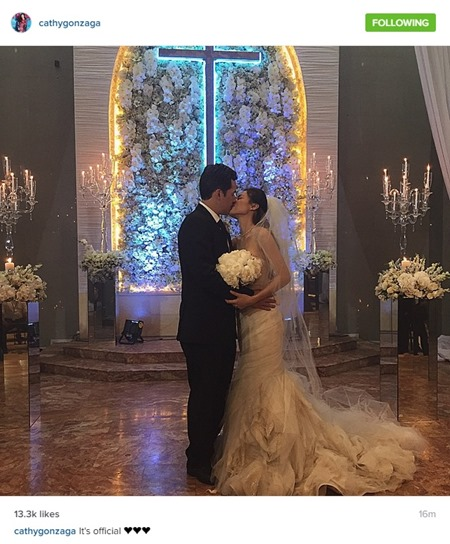 Paul-Celestine wedding - the kiss