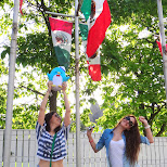 Team Mexico and Piwi at Canada's Wonderland in Vaughan, Ontario, Canada