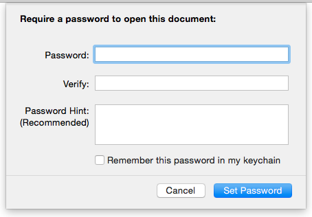 Pages create password