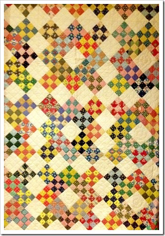 Antique 9 patch quilt