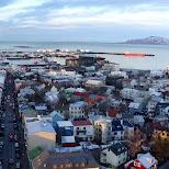 panorama view of Reykjavik in Reykjavik, Hofuoborgarsvaeoi, Iceland