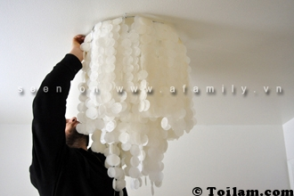 đèn trùm, cách làm, cực hot,lấp,lánh,handmade,diy,mẹo vặt
