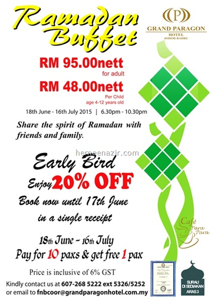 buffet ramadhan grand paragon 2015