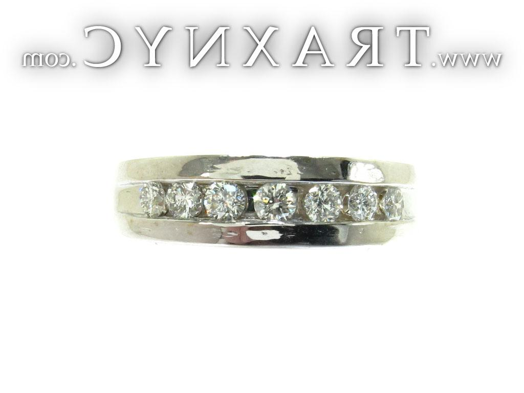 Full Size Picture for White Gold Channel Diamond Ring