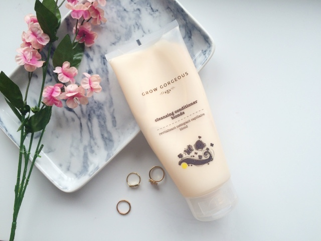 grow gorgeous cleansing conditioner, grow gorgeous cleansing conditioner review, shampoo for washing your hair every day, every day shampoo, shampoo for fine hair, products for fine hair, shampoo for oily hair, products for oily hair