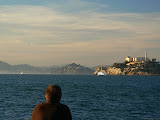 The Rock (Alcatraz) and Tiburon, from Pier 39, San Francisco