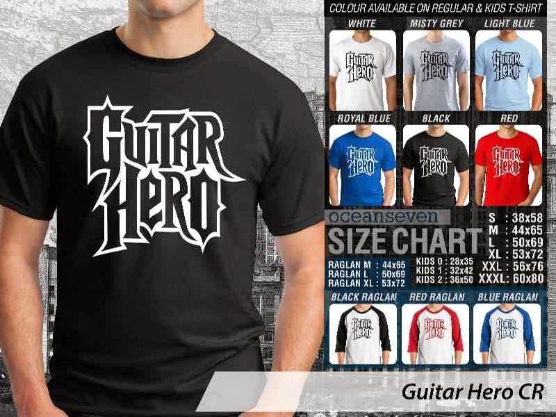 Kaos personel band Guitar Hero 7 Personil Band Musik distro ocean seven