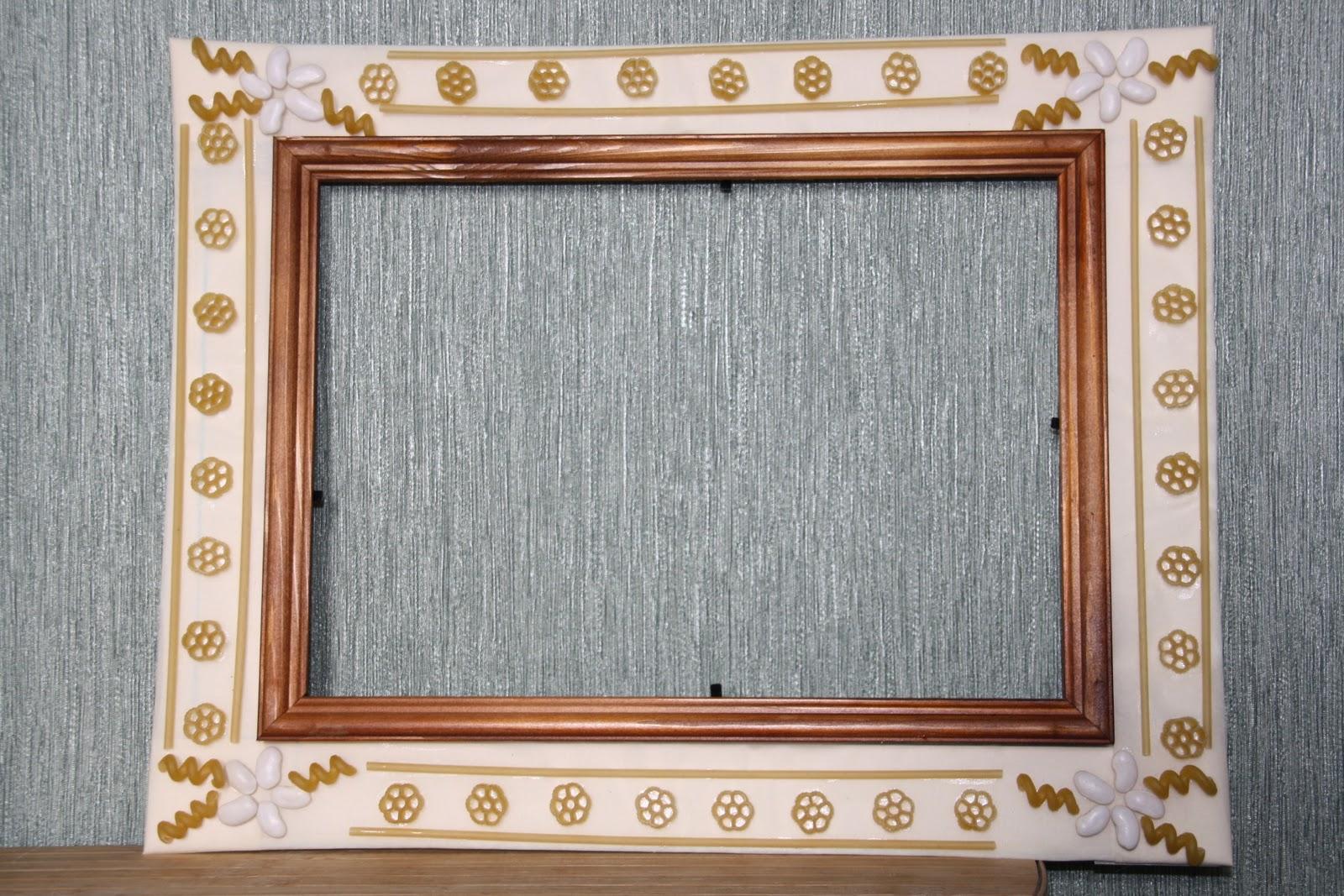 Фоторамка, декорированная крупой Мастер-класс своими руками 10