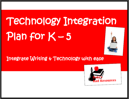Writing and technology integration matrix - free download from Raki's Rad Resources