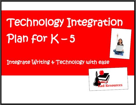 Writing and technology integration matrix - free download from Raki's Rad Resources