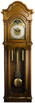 Antique-Harvest-Maple-Grandfather-Clock-in-Grandmother-Longcase