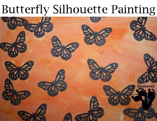 Butterfly Silhouette Painting