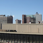 The Memphis skyline taken from the Peabody Hotel roof in Memphis TN 07202012-03
