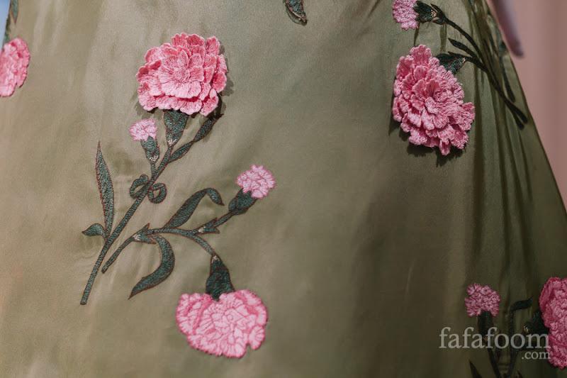 Details of Oscar de la Renta, Evening dress, Fall 2012.