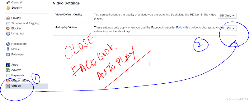 close facebook autoplay