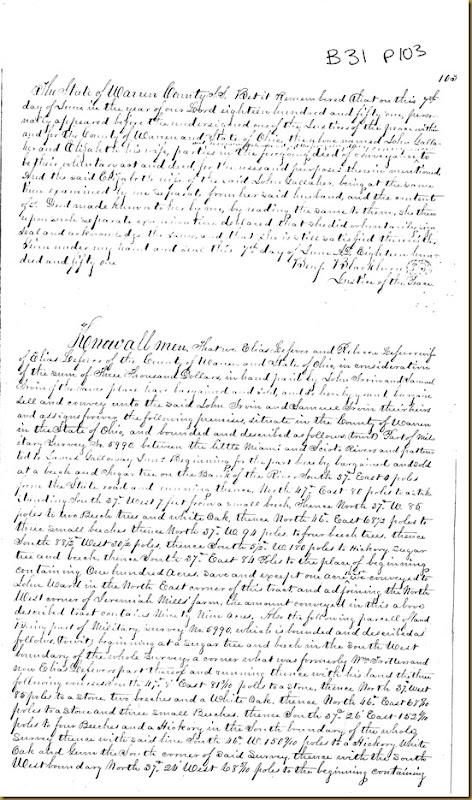 Elias Lefever,Rebecca LefeverWarren Co,OhconveyJohn Irwin,Samuel Irwin1851