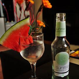 Sunrise cocktail by Nicoleta Gradinaru - Food & Drink Alcohol & Drinks ( coconut, cocktail, lime, watermelon, summertime, vodka )
