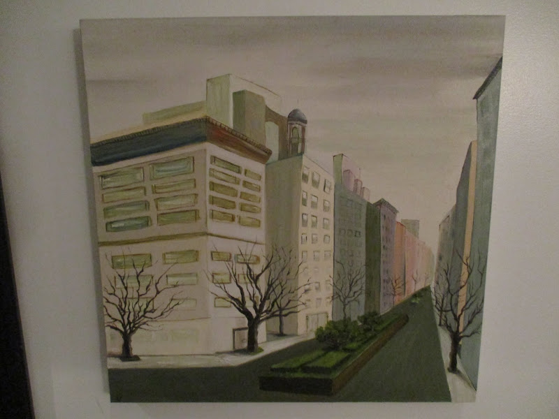 Signed Cityscape Painting
