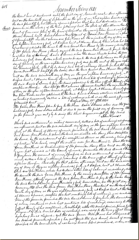 David S. Irwin sues James VanHorne 1841 3
