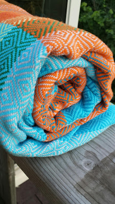 my Turkish Towel wrap - big diamond weave