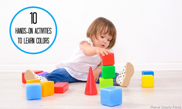 Teaching toddlers about colors through sensory and science play