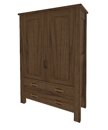 Matching Furniture Piece: Luxor Armoire Dresser, Peppercorn Cherry