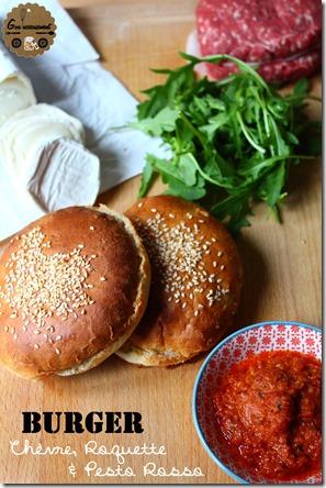 Burger Chèvre Roquette & Pesto Rosso 1