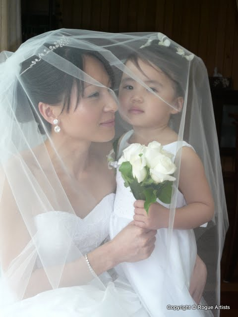 Bride Flower girl