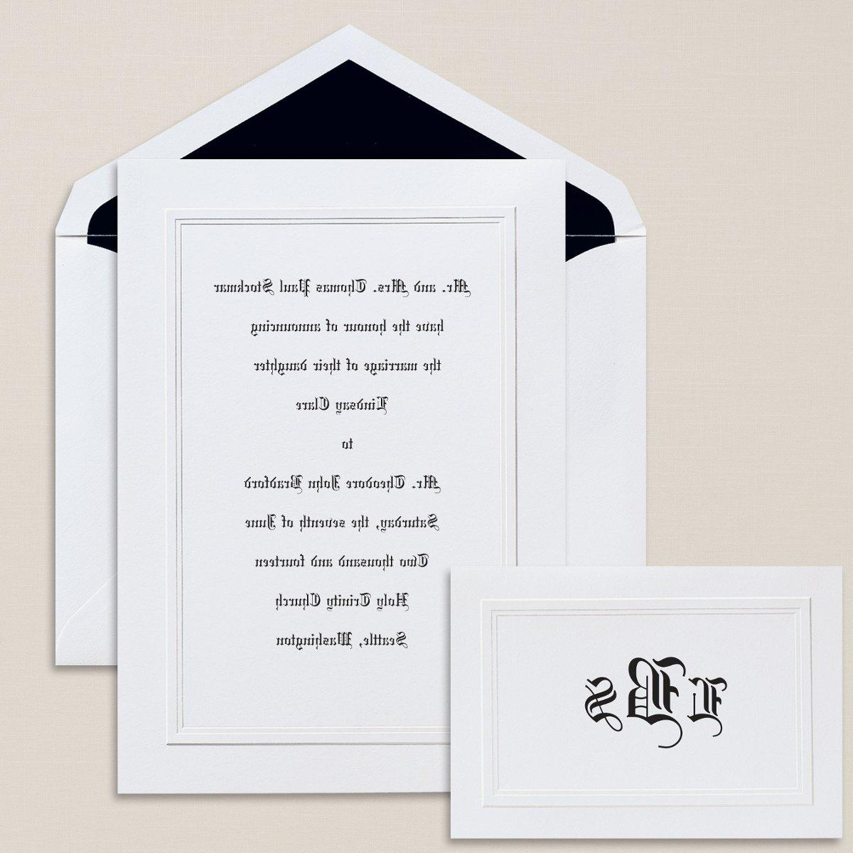 High Style - This classic fold-over invitation will reflect your impeccable