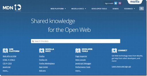 mozilla developer network docs