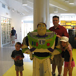 Bryan,Jeff and Hannah with the Lego Buzz at the Lego store in Downtown Disney in FL 06042011