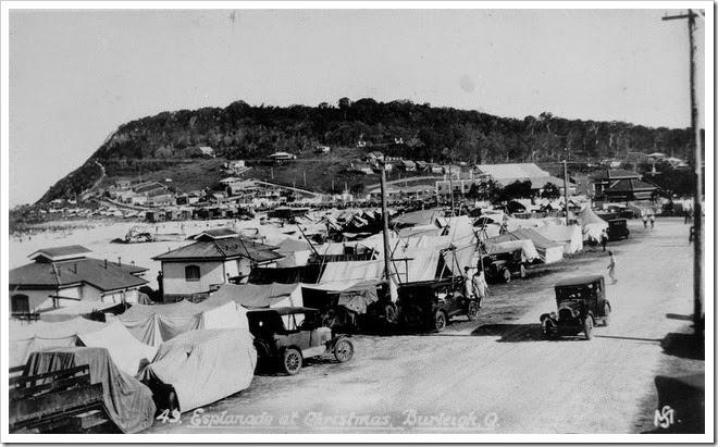 camping at christmas 1932