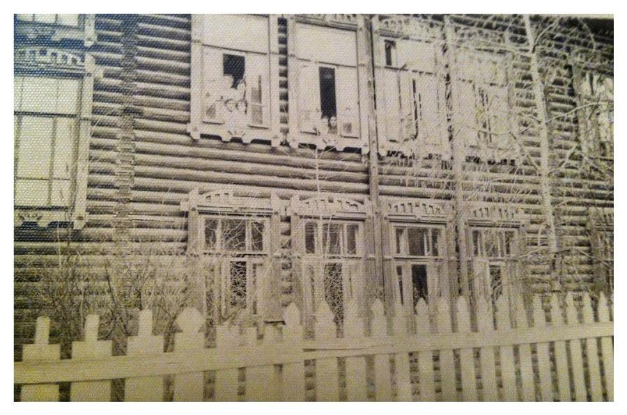 Деревянное здание общежития чувашского госпединститута