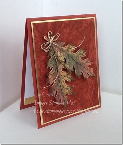 fall card for stampers dozen Oct