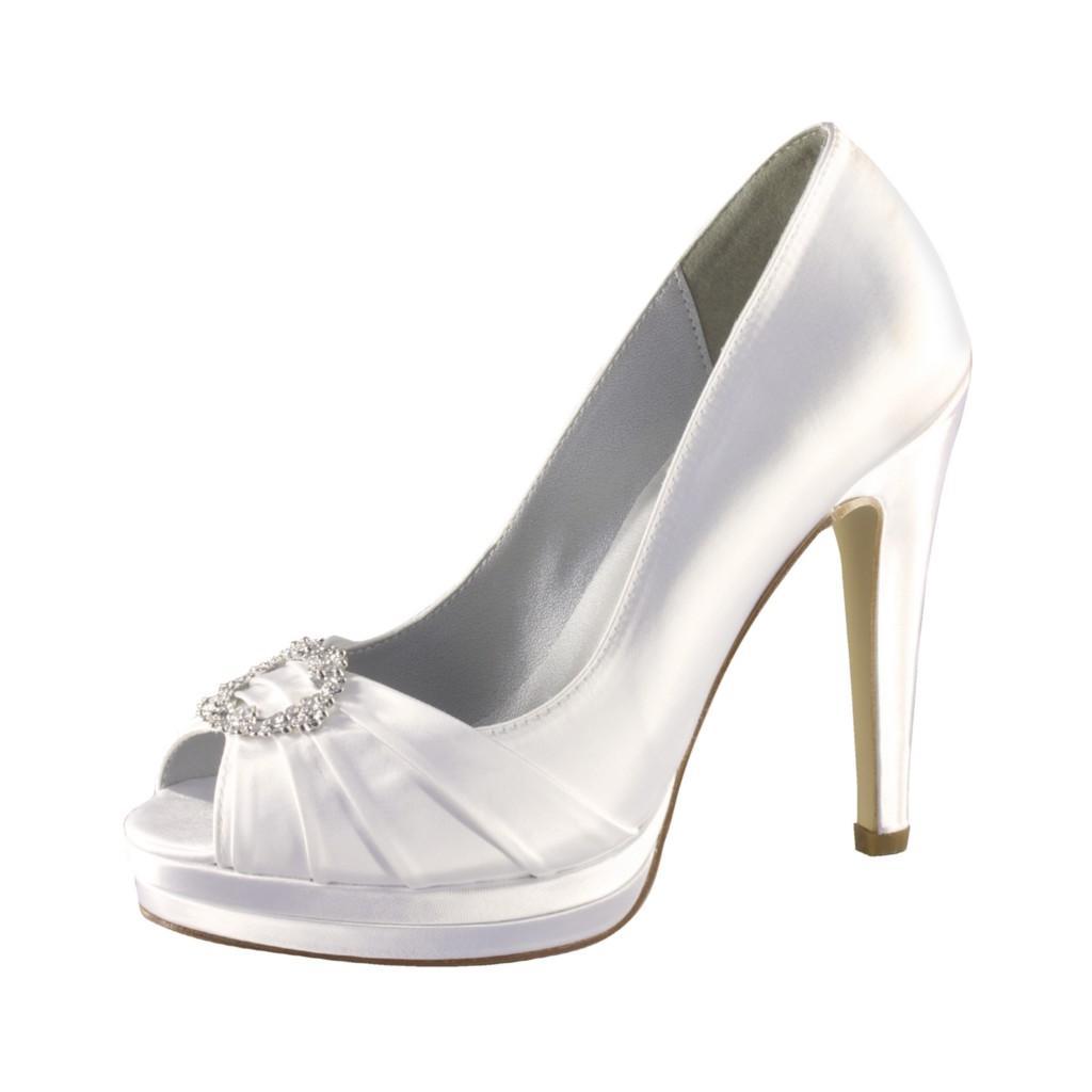 CYNDI Black Satin & Rhinestone Bridal Shoes   eBay