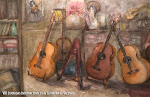 Mª Luisa Romero.'Estudio De Guitarrista'. Acuarela