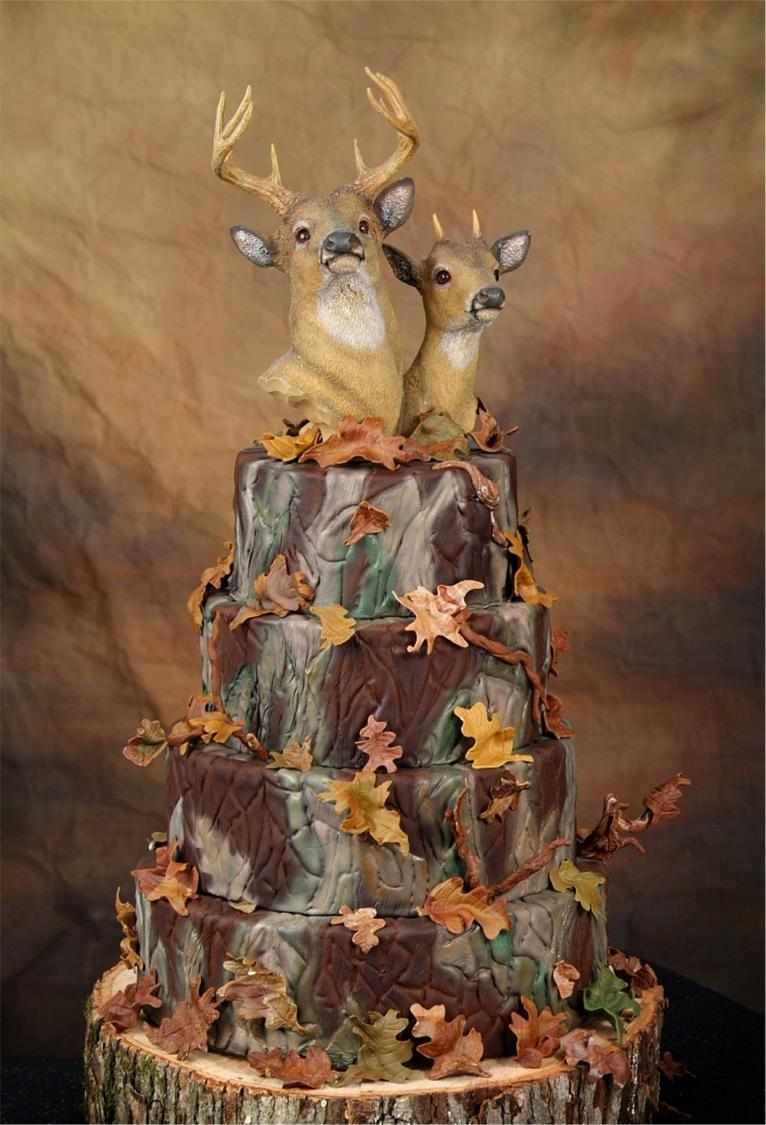 Wedding Cake For Camouflage