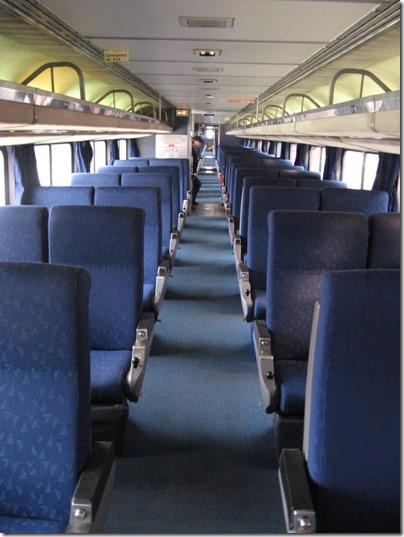 IMG_0678 Upper Level of Amtrak Superliner I Coach-Baggage #31015 at Union Station in Portland, Oregon on May 10, 2008