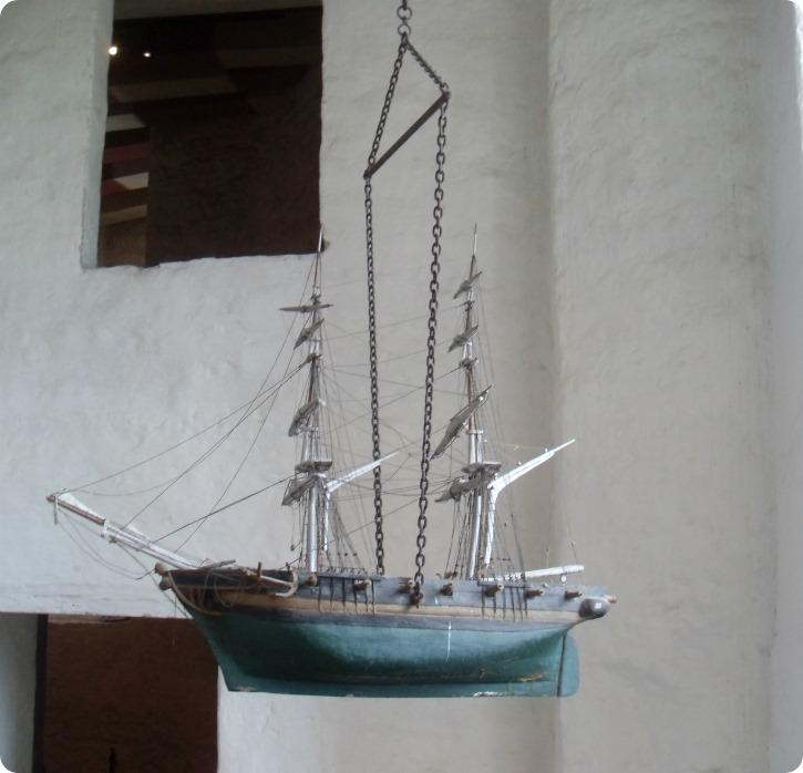 Kalmar Slotskirke - skibet ved bagtrappen