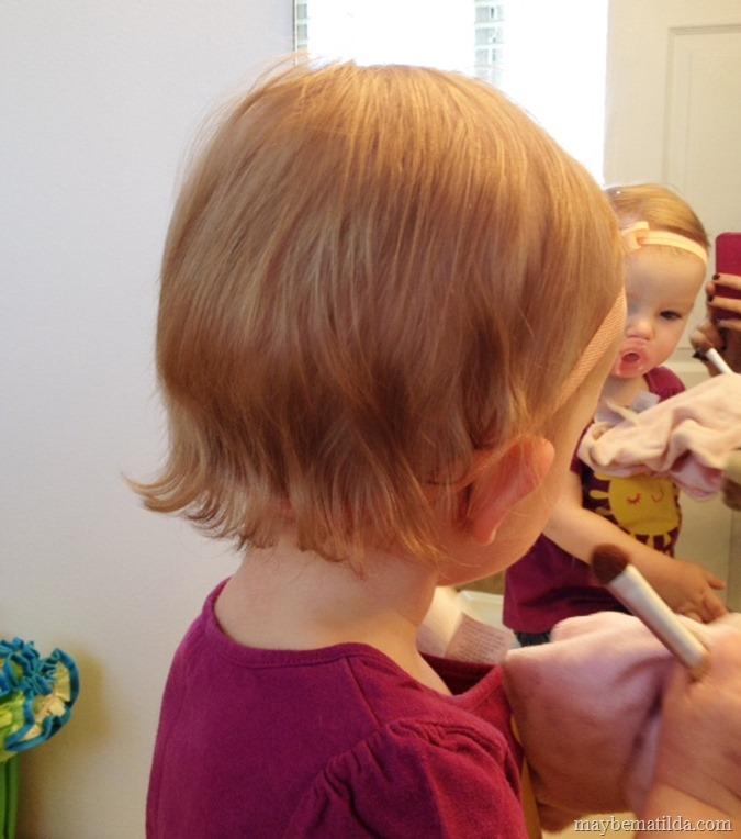 trimmed baby mullet