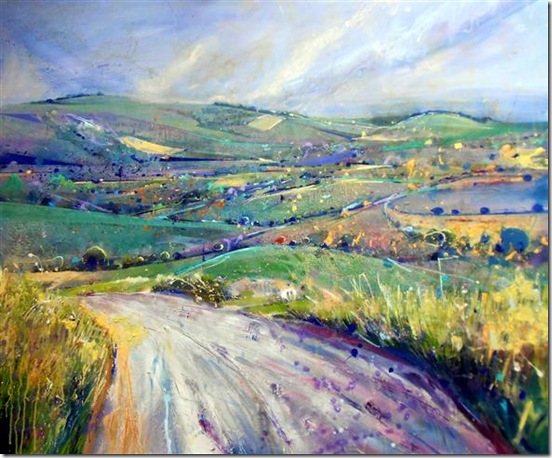 Towards Glynde, East Sussex-Lorna-Holdcroft-ENKAUSTIKOS