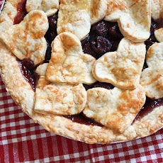 Cheddar Crusted Cherry Pie