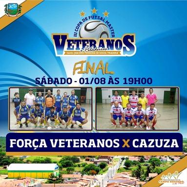 III COPA DE PELADEIROS  - FINAL - FORÇA VETERANOS - CAZUZA - CAMPO REDONDO - FUTSAL